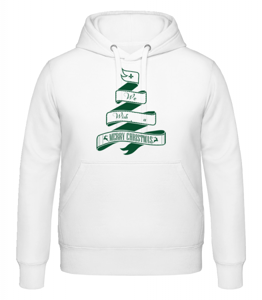We Wish You A Merry Christmas - Kapuzenhoodie - Weiß - Vorn