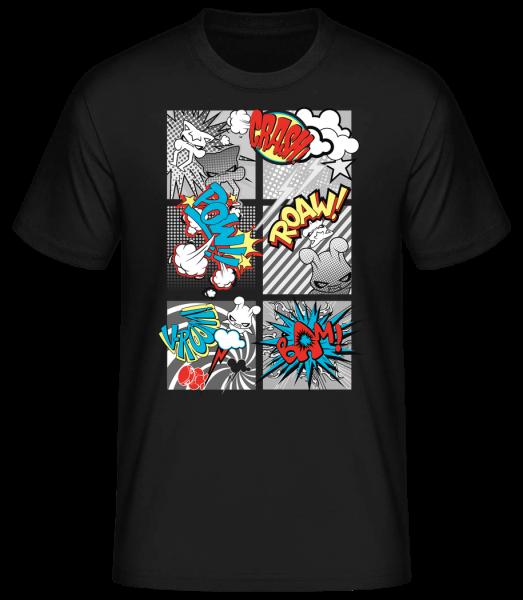 Comic Kobolde - Basic T-Shirt - Schwarz - Vorn