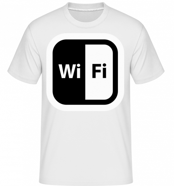 WiFi Icon Black/White - Shirtinator Männer T-Shirt - Weiß - Vorn