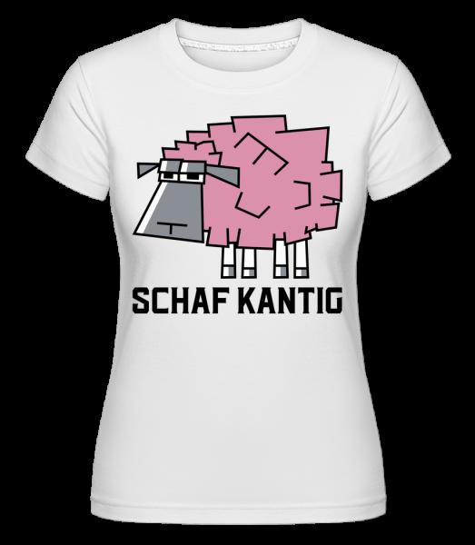 Schafkantig - Shirtinator Frauen T-Shirt - Weiß - Vorn