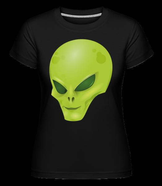 Alien Kopf - Shirtinator Frauen T-Shirt - Schwarz - Vorn
