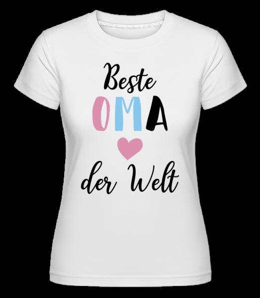 Beste Oma Der Welt - Shirtinator Frauen T-Shirt - Weiß - Vorn