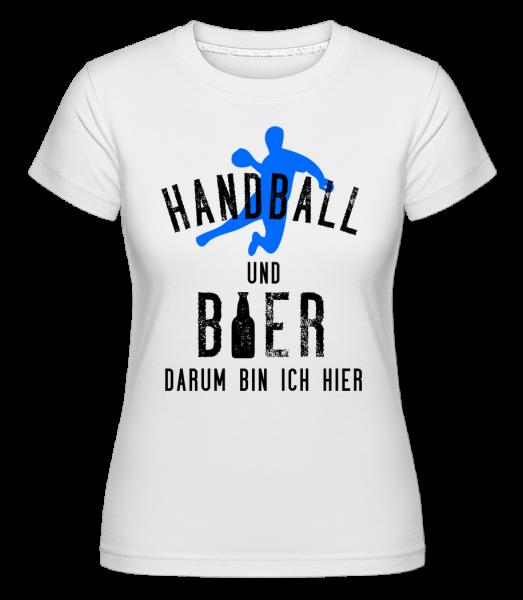 Handball Und Bier - Shirtinator Frauen T-Shirt - Weiß - Vorn
