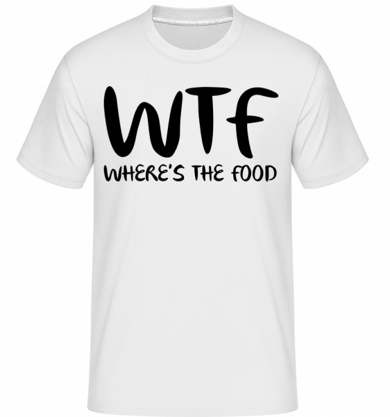 WTF Where's The Food - Shirtinator Männer T-Shirt - Weiß - Vorn