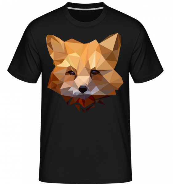 Polygon Fuchs - Shirtinator Männer T-Shirt - Schwarz - Vorn