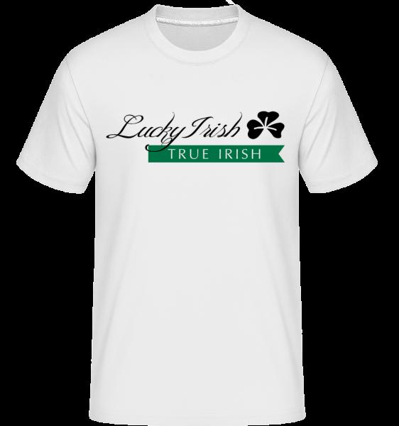 Lucky Irish Sign - Shirtinator Männer T-Shirt - Weiß - Vorn