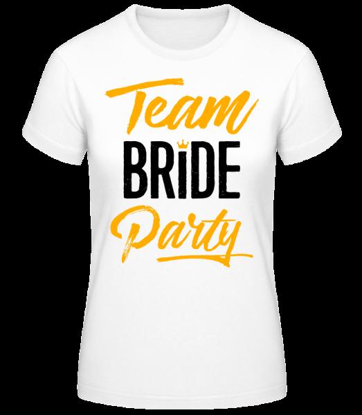 Team Bride Party - Frauen Basic T-Shirt - Weiß - Vorn