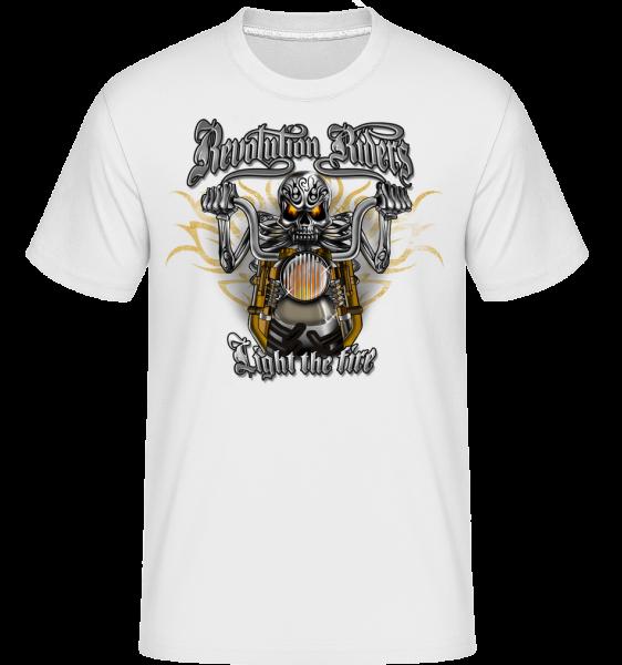 Revolution Riders - Shirtinator Männer T-Shirt - Weiß - Vorn