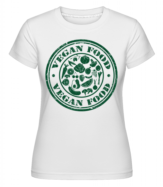 Vegan Food Sign - Shirtinator Frauen T-Shirt - Weiß - Vorn
