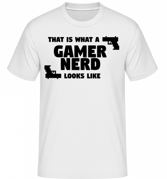 A Gamer Nerd Looks Like - Shirtinator Männer T-Shirt - Weiß - Vorn