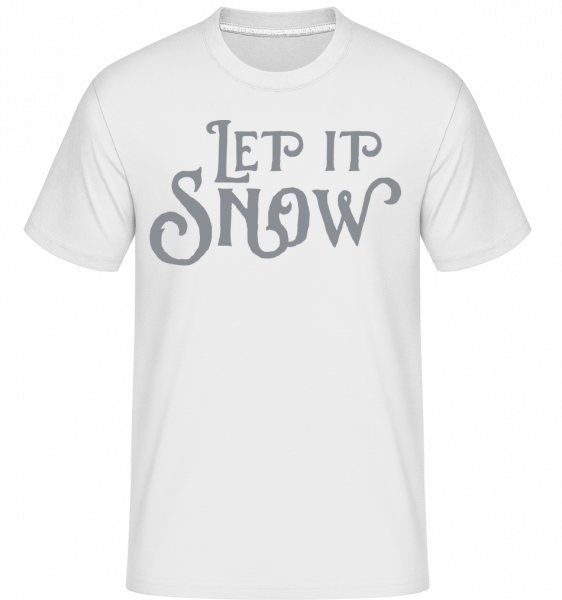 Let It Snow - Shirtinator Männer T-Shirt - Weiß - Vorn