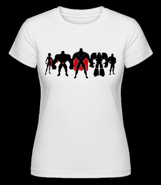 Superman League - Shirtinator Frauen T-Shirt - Weiß - Vorn