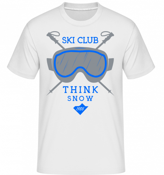 Ski Club Sign - Shirtinator Männer T-Shirt - Weiß - Vorn
