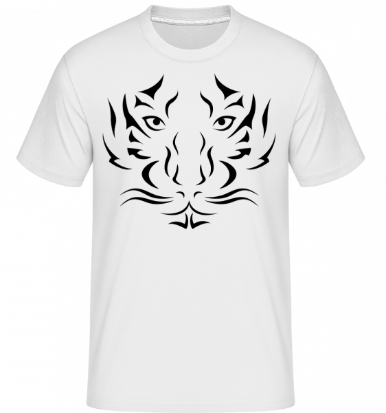 Tigerkopf - Shirtinator Männer T-Shirt - Weiß - Vorn