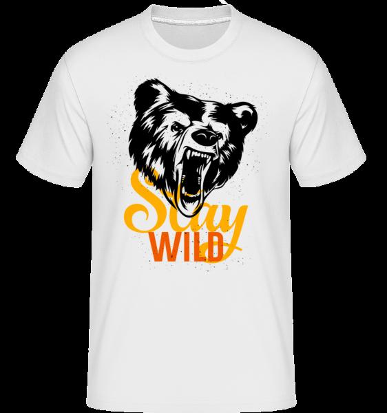 Stay Wild - Shirtinator Männer T-Shirt - Weiß - Vorn