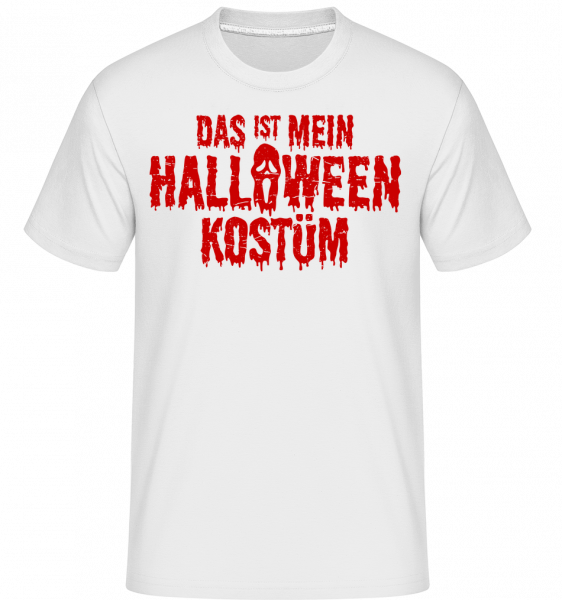 Das Ist Mein Halloween Kostüm - Shirtinator Männer T-Shirt - Weiß - Vorn