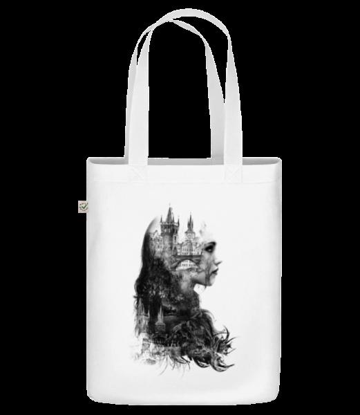 Fantasiestadt Mädchen - Bio Tasche - Weiß - Vorn