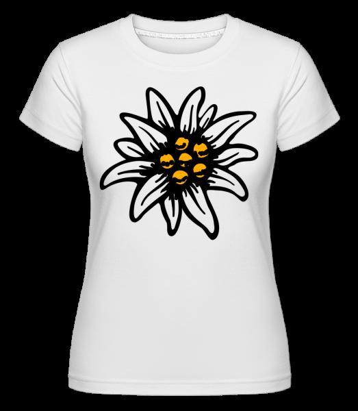 Edelweiß - Shirtinator Frauen T-Shirt - Weiß - Vorn