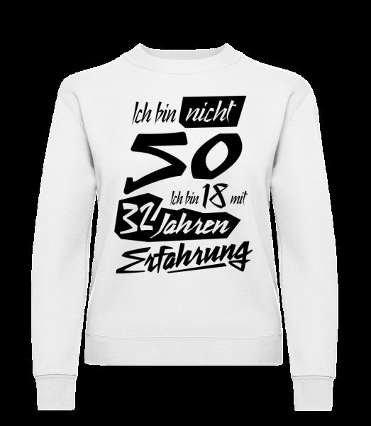 18 Mit 32 Jahren Erfahrung - Frauen Pullover - Weiß - Vorn