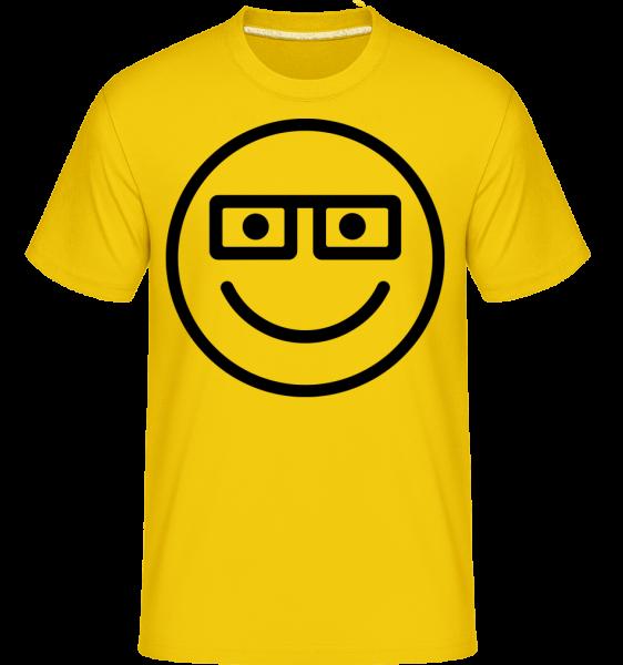 Smiley Emoticon - Shirtinator Männer T-Shirt - Goldgelb - Vorn