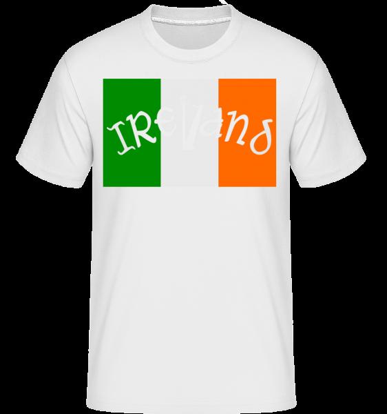Ireland Flag - Shirtinator Männer T-Shirt - Weiß - Vorn