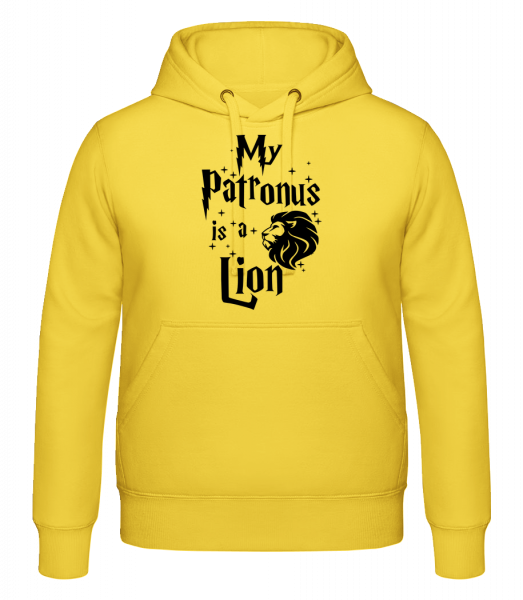 My Patronus Is A Lion - Kapuzenhoodie - Gelb - Vorn