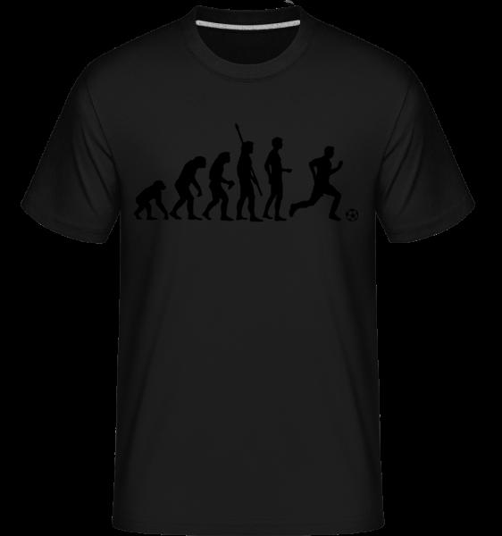 Soccer Evolution - Shirtinator Männer T-Shirt - Schwarz - Vorn