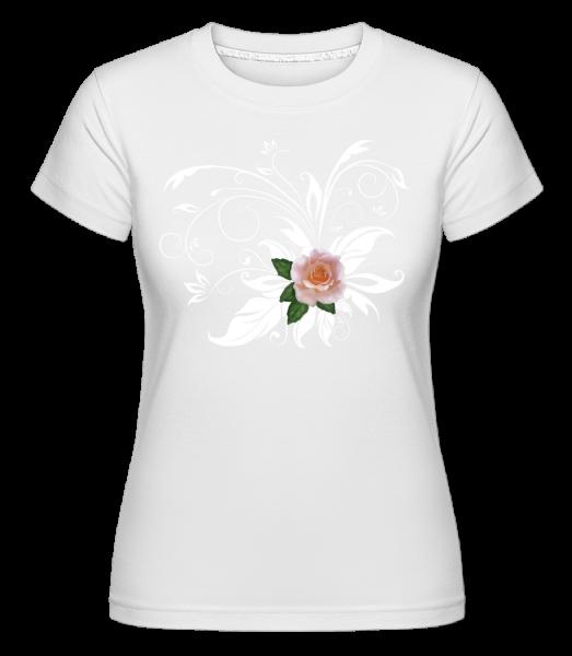 Weisse Rosen - Shirtinator Frauen T-Shirt - Weiß - Vorn