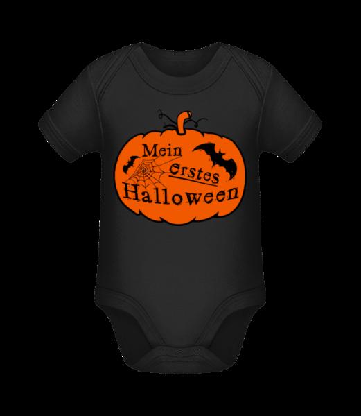 Mein Erstes Halloween - Baby Bio Strampler - Schwarz - Vorn