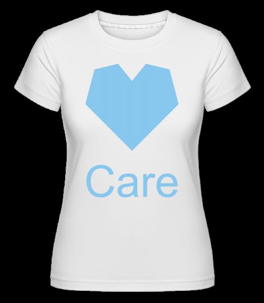 Care Heart - Shirtinator Frauen T-Shirt - Weiß - Vorn
