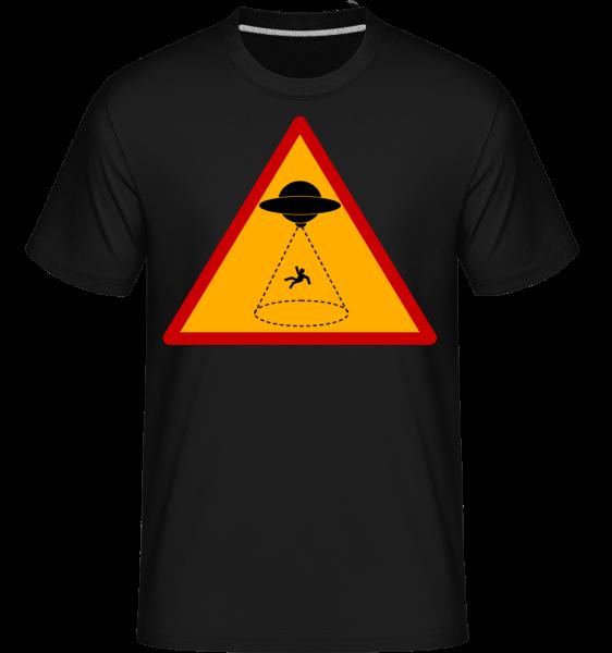 Ufo Zone - Shirtinator Männer T-Shirt - Schwarz - Vorn