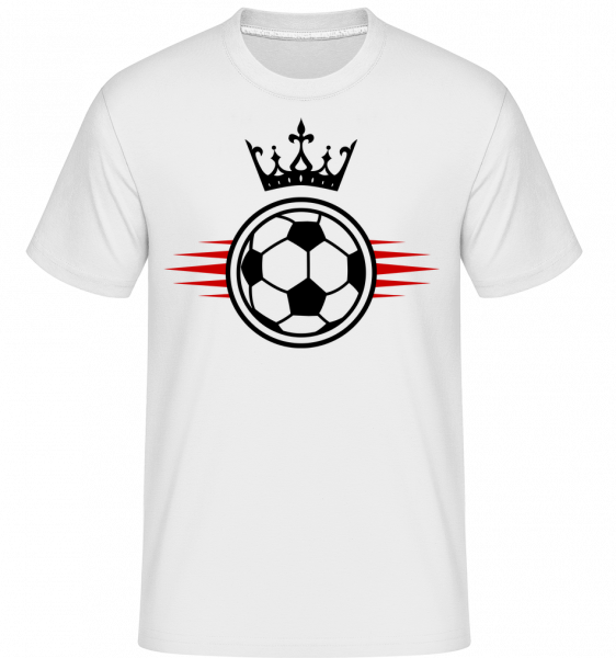 Football Crown - Shirtinator Männer T-Shirt - Weiß - Vorn