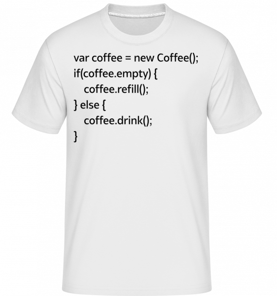 PHP Coffee - Shirtinator Männer T-Shirt - Weiß - Vorn