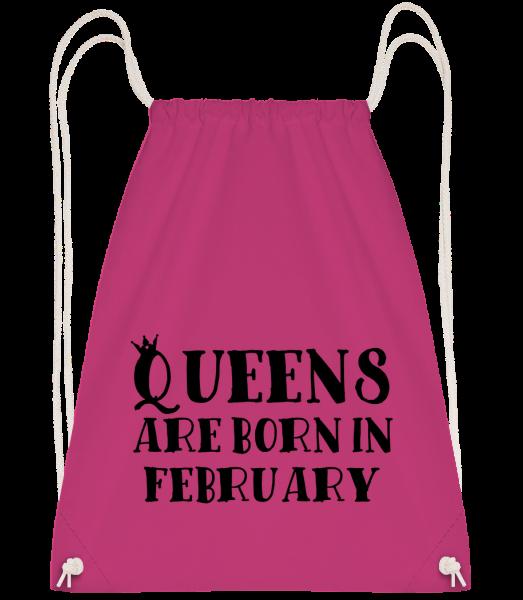 Queens Are Born In February - Turnbeutel - Magenta - Vorn