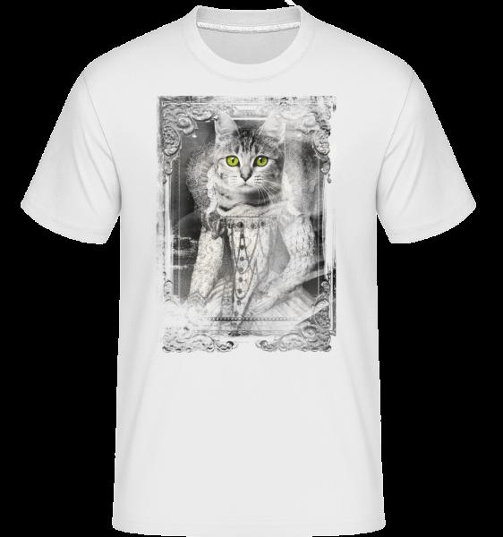 Katzen Gemälde - Shirtinator Männer T-Shirt - Weiß - Vorn