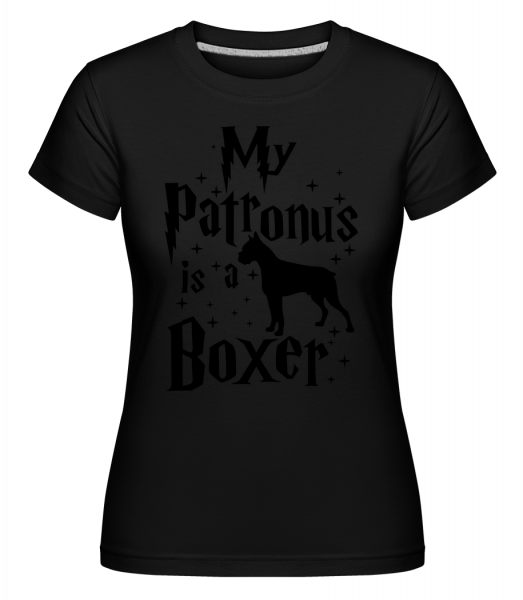 My Patronus Is A Boxer - Shirtinator Frauen T-Shirt - Schwarz - Vorn