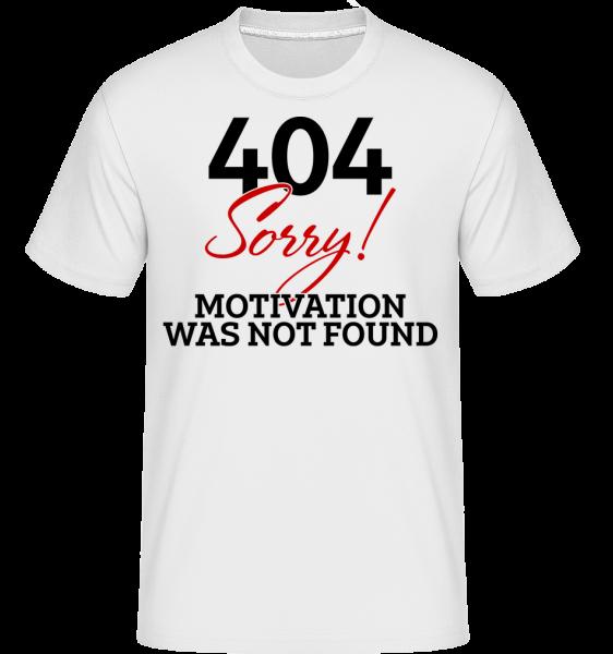 404 Motivation Not Found - Shirtinator Männer T-Shirt - Weiß - Vorn