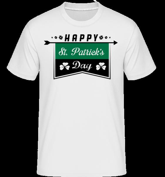 Happy St. Patrick's Logo - Shirtinator Männer T-Shirt - Weiß - Vorn