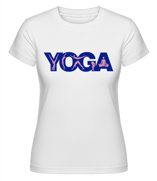 Yoga Sign Blue - Shirtinator Frauen T-Shirt - Weiß - Vorn
