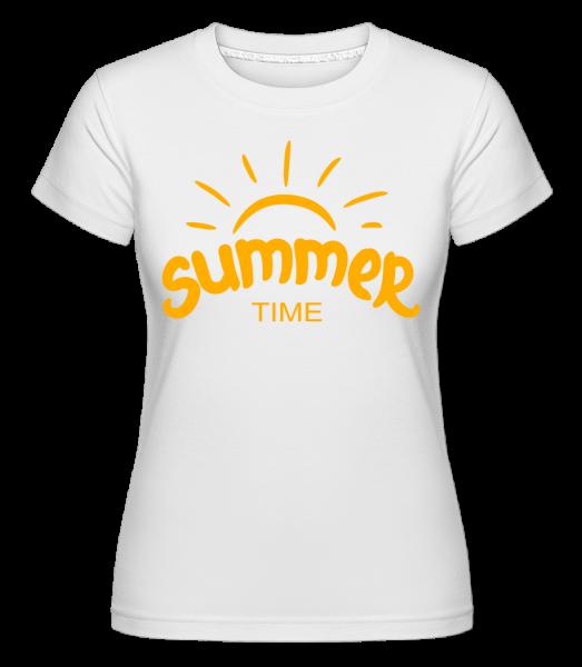 Summer Time Yellow - Shirtinator Frauen T-Shirt - Weiß - Vorn