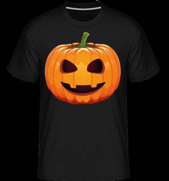 Lachender Kürbis - Shirtinator Männer T-Shirt - Schwarz - Vorn