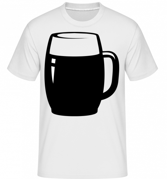 Beer Glass Black/White - Shirtinator Männer T-Shirt - Weiß - Vorn